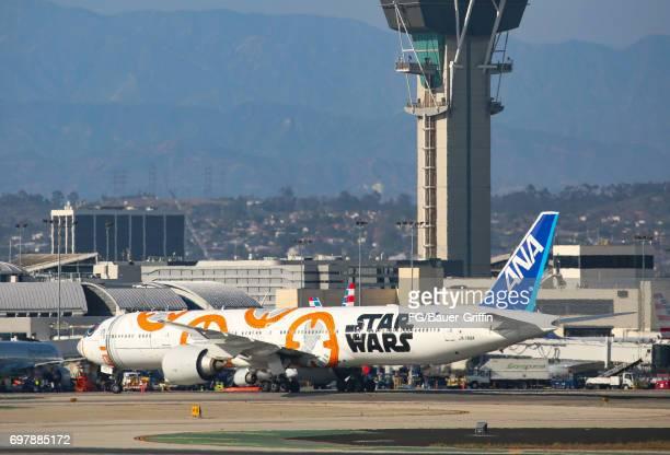 ANA Boeing 777 at Los Angeles International Airport on June 18 2017 in Los Angeles California