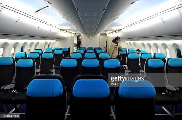 A Boeing 787 Dreamliner one of the world's largest aircraft arrives at Beijing Capital Airport on December 4 2011 in Beijing China The Boeing...