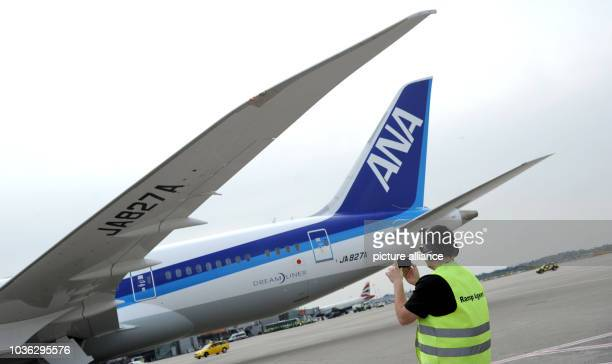 A Boeing 787800 also know as Dreamliner of Japanese airline All Nippon Airways arrives at the airport in Duesseldorf Germany 30 March 2014 From 30...