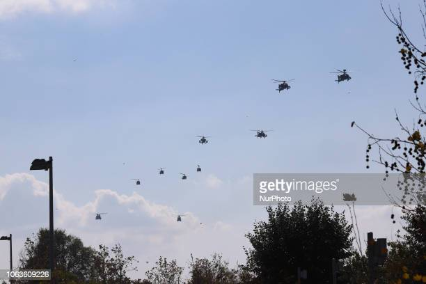 Boeing AH64 Apache from the Hellenic Army in the air flying Hellenic Army helicopters in formation AH64D Apache Longbow Attack Helicopters...