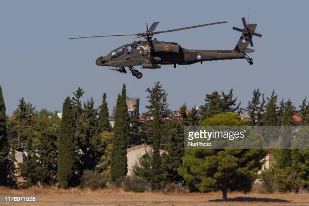 Boeing AH64 Apache of the Hellenic Army Aviation The AH64D Apache Longbow Attack Helicopter participating at a static and the flying display...