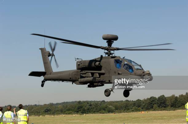 Boeing AH64D Apache Longbow takingoff at the 2006 Farnborough International Airshow