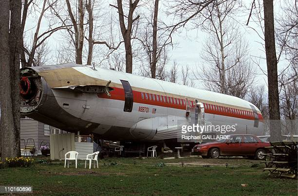 Boeing and Silo of missile as house in United States in March 1997 Jo Ann Ussery transformed a boeing into her permanent house
