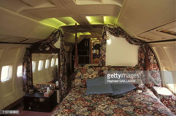 Boeing and Silo of missile as house in United States in March 1997 Jo Ann Ussery's boeing bedroom
