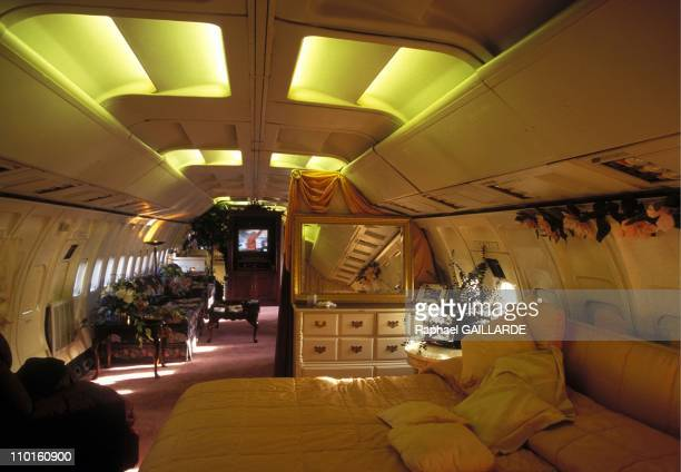 Boeing and Silo of missile as house in United States in March 1997 The lounge of Jo Ann Ussery's boeing