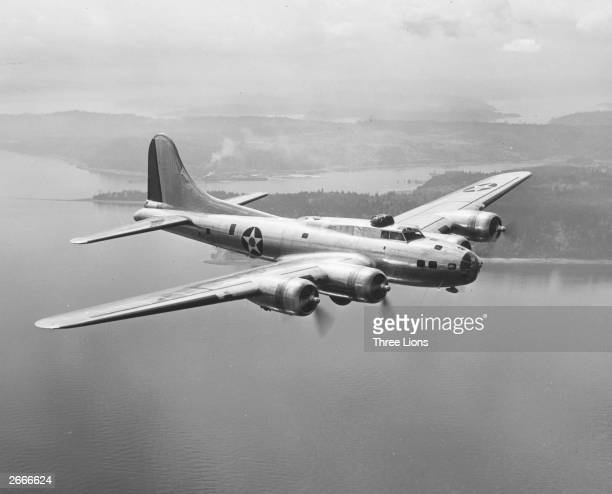 A Boeing B17E in flight