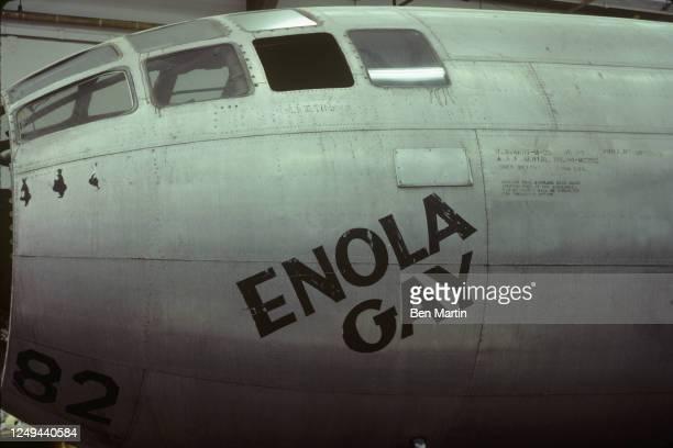 Boeing B-29 Superfortress bomber Enola Gay's cockpit, 1981.