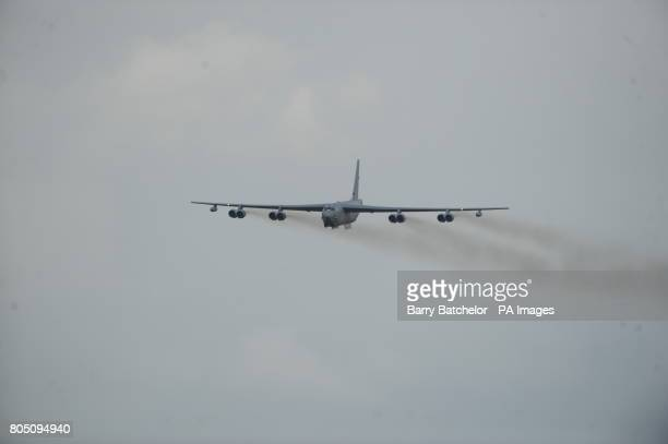 Boeing B-52H Stratofortress of 20th Bomb Squadron, USAF Air Combat Command, Barksdale AFB at the Royal International Air Tattoo at RAF Fairford,...