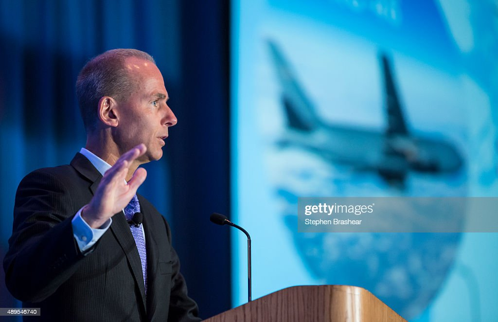 Boeing CEO Dennis Muilenburg Addresses The SAE Aerotech Congress : News Photo