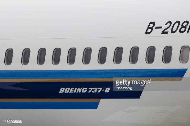 A Boeing Co 737 Max 8 plane is seen at the company's manufacturing facility in Renton Washington US on Tuesday Mar 12 2019 TheBoeing 737 Max crash...