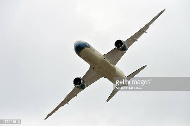 A Boeing Dreamliner from the Vietnam Airlines performs at Le Bourget airport near Paris on June 15 2015 during the International Paris Airshow AFP...