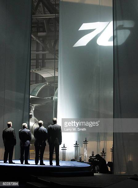 Boeing executives Harry C Stonechipher president and CEO James W O'Neill vice president of tanker programs James F Albaugh executive vice president...