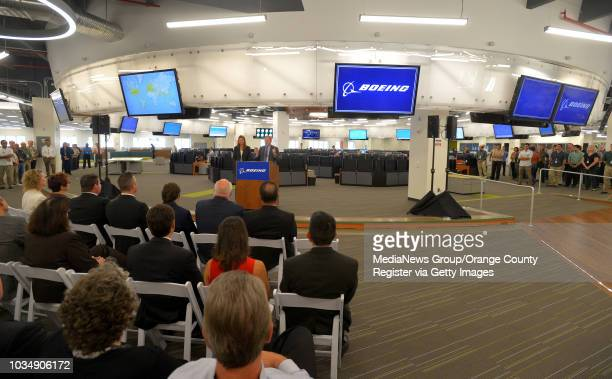 Boeing officials open their new customer support operations center at their facility in Seal Beach CA on Friday September 12 2014 The new operations...