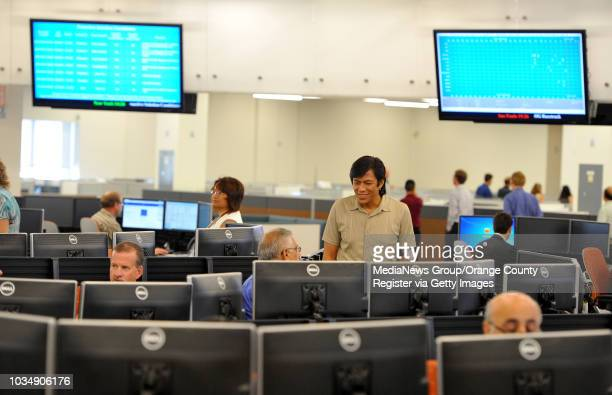 Boeing officials open their new customer support operations center at their facility in Seal Beach CA on Friday September 12 2014 After the opening...