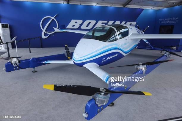 Boeing the American Manufacturer stand at the 53rd Paris Air Show 2019 in Le Bourget LBG airport near Paris France Boeing presented at the Air Show...