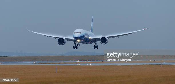 Boeing's 787 Dreamliner aircraft lands in Sydney in May 24 2012 in Sydney Australia
