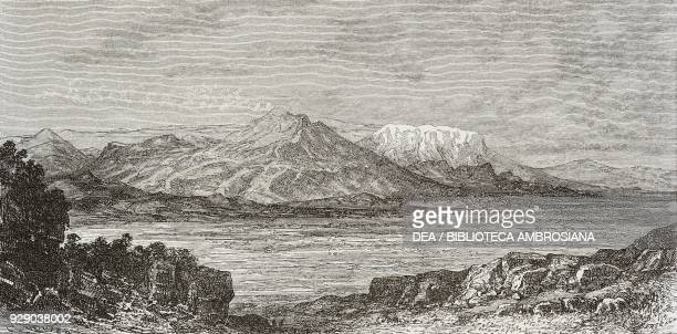 Boeotia Plain, Greece, drawing by Edouard Riou from a sketch by Belle, Voyage in Greece, 1861-1868-1874, by Henri Belle, from Il Giro del mondo ,...