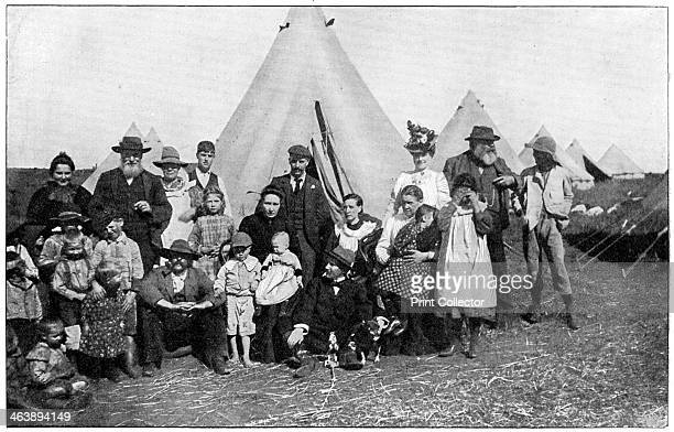 Boer families in a British concentration camp at Eshowe Zululand 2nd Boer War 1900 This represented the first use of the internment of civilians in...
