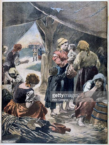 Boer families in a British prison camp 1901 Distressed condition of Boer civilians dispossed or imprisoned for resisting the British This represented...