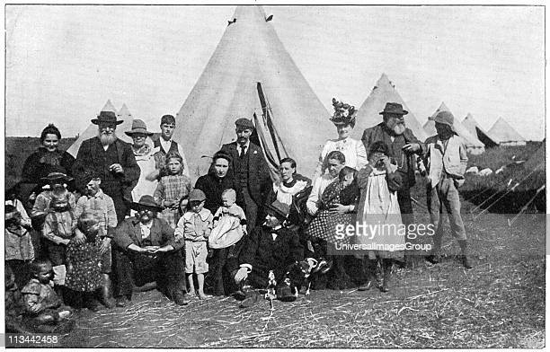 Boer families in a concentration camp at Eshowe Zululand 1900 2nd Boer War 18991902