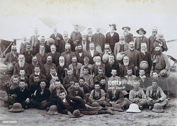 Boer prisoners held by the British army at Kakul India during the Second Boer War 1902 Thousands of Boer prisoners were sent overseas by the British...