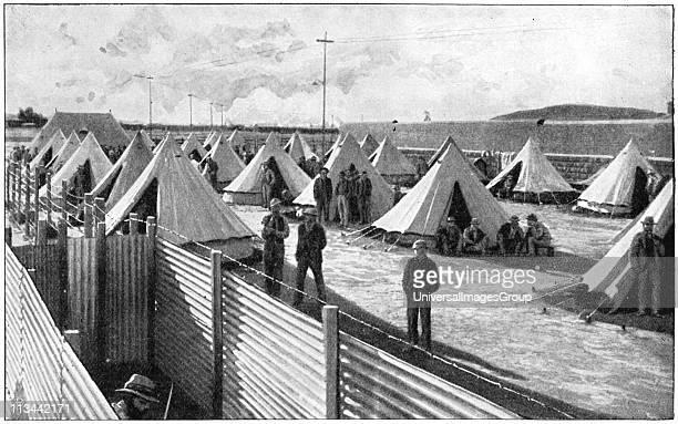 Boer prisoners in camp at Bloemfontein 2nd Boer War 18991902