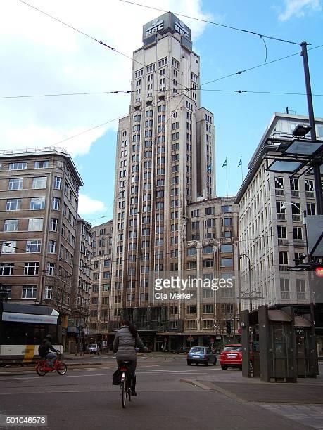 Boerentoren (KBC) building, Antwerp, Belgium, Europe