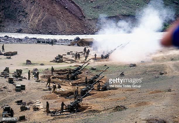 Bofors Guns are used for firing heavily during the Kargil War in JK