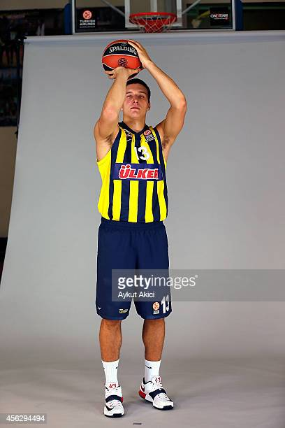 Bogdan Bogdanovic #13 poses during the Fenerbahce Ulker Istanbul 2014/2015 Turkish Airlines Euroleague Basketball Media Day at Ulker Sport Arena on...