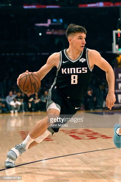 Bogdan Bogdanovic of the Sacramento Kings in action against the Los Angeles Lakers at Staples Center on December 30 2018 in Los Angeles California...