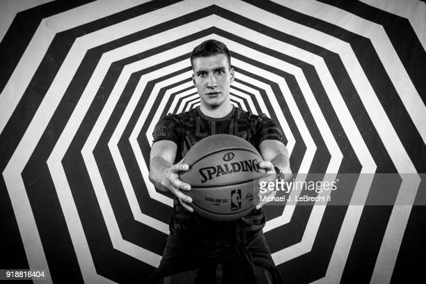 Bogdan Bogdanovic of the Sacramento Kings poses for a portrait as part of the 2018 NBA AllStar Weekend on February 15 2018 at the Mariott in Los...