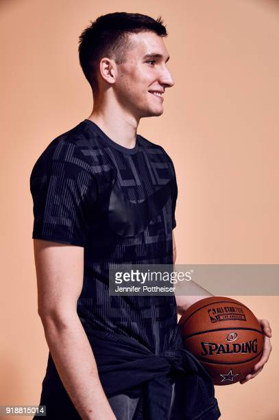 Bogdan Bogdanovic of the Sacramento Kings poses for portraits during the NBAE Circuit as part of 2018 NBA AllStar Weekend on February 15 2018 at the...