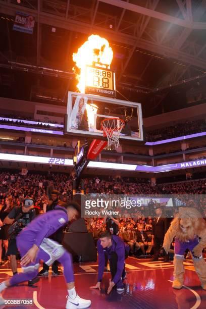 Bogdan Bogdanovic of the Sacramento Kings prepares to face off against the Denver Nuggets on January 6 2018 at Golden 1 Center in Sacramento...