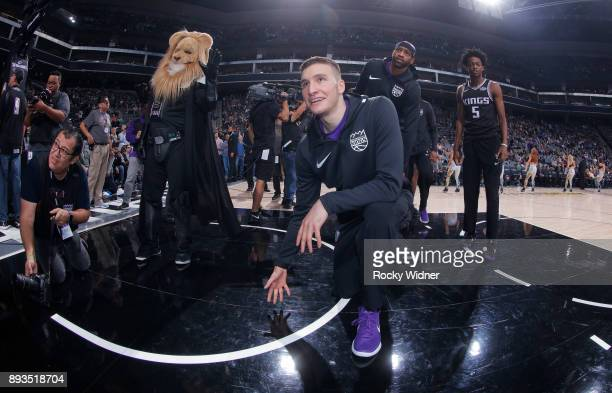 Bogdan Bogdanovic of the Sacramento Kings prepares to face the Phoenix Suns on December 12 2017 at Golden 1 Center in Sacramento California NOTE TO...