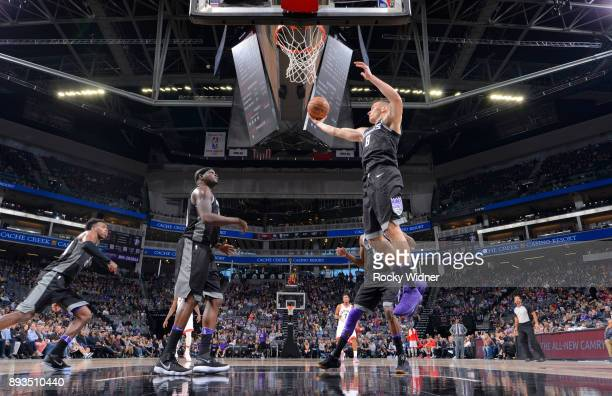 Bogdan Bogdanovic of the Sacramento Kings rebounds against the Toronto Raptors on December 10 2017 at Golden 1 Center in Sacramento California NOTE...
