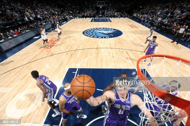Bogdan Bogdanovic of the Sacramento Kings shoots the ball against the Minnesota Timberwolves on December 14 2017 at Target Center in Minneapolis...