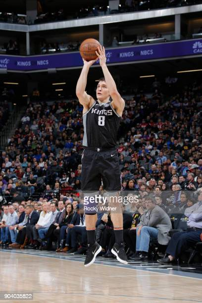 Bogdan Bogdanovic of the Sacramento Kings shoots the ball against the LA Clippers on January 11 2018 at Golden 1 Center in Sacramento California NOTE...