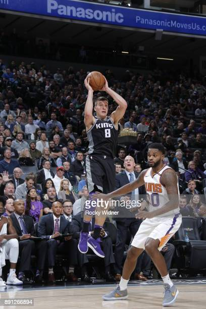 Bogdan Bogdanovic of the Sacramento Kings shoots the ball during the game against the Phoenix Suns on December 12 2017 at Golden 1 Center in...
