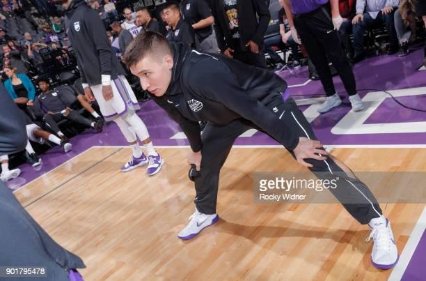 Bogdan Bogdanovic of the Sacramento Kings warms up against the Charlotte Hornets on January 2 2018 at Golden 1 Center in Sacramento California NOTE...