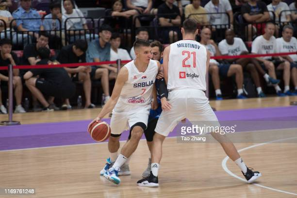 Bogdan Bogdanovic of the Serbia National Team drives against the Italy National Team during the International Men's Basketball Super Tournament 2019...