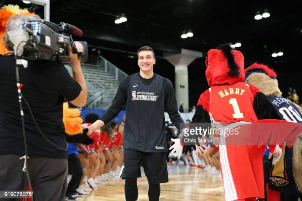 Bogdan Bogdanovic of the World Team participates during the 2018 Mnt Dew Kickstart Rising Stars Challenge Practice as part of 2018 AllStar Weekend at...