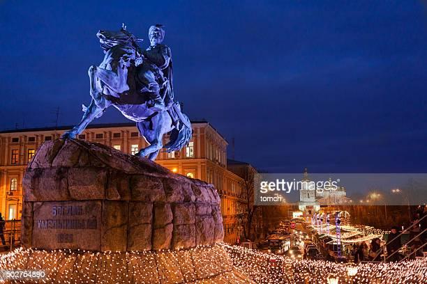 Bogdan Khmelnitsky monumento en Kyiv, Ucrania