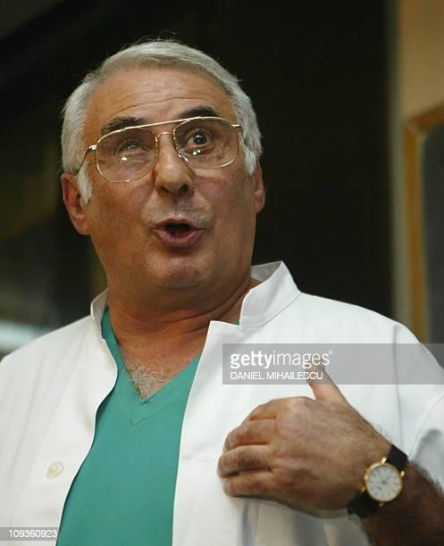 Bogdan Marinescu the doctor of Adriana Iliescu addresses media 19 January 2005 at Giulesti Hospital in Bucharest A 67yearold Romanian woman Adriana...