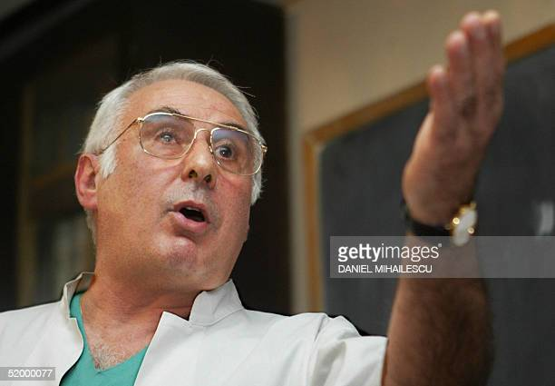 Bogdan Marinescu the doctor of Adriana Iliescu adresses the media at Panait Sarbu hospital as Iliescu the 67yearold Romanian who became today 16...