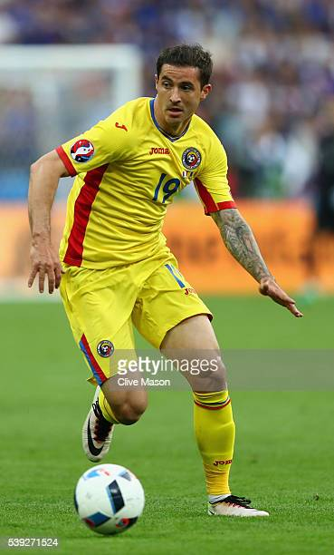 Bogdan Stancu of Romania in action during the UEFA Euro 2016 Group A match between France and Romania at Stade de France on June 10 2016 in Paris...