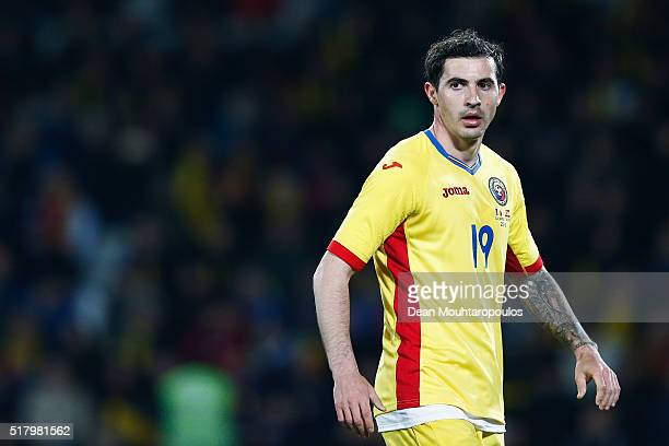 Bogdan Stancu of Romania looks on during the International Friendly match between Romania and Spain held at the Cluj Arena on March 27 2016 in...