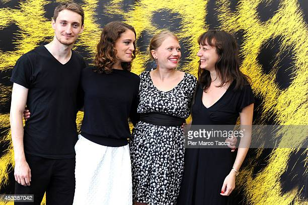 Bogdan Zamfir Arian Labed Lucie Borleteau and Marine Arrighi attend the 'Fidelio L'Odyssee d'Alice' Photocall during the 67th Locarno Film Festival...