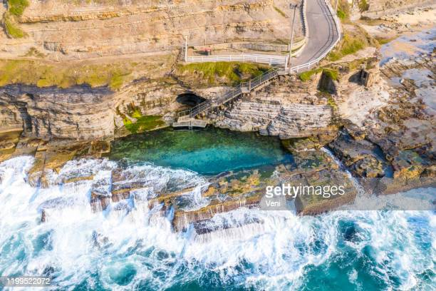 bogey hole, newcastle, nsw, australia - new south wales stock pictures, royalty-free photos & images