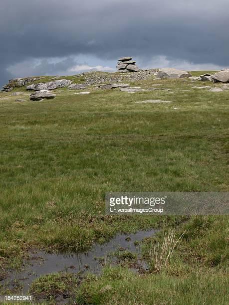 Boggy moorland Bodmin Moor Cornwall UK
