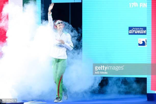 Boglarka Kapas before the start of the Women's 400m Freestyle Final of the Budapest 2017 FINA World Championships on July 23 2017 in Budapest Hungary